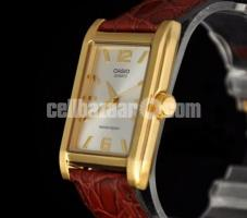 WW0243 Original Casio Enticer Leather Belt Watch MTP-1235GL-7AV