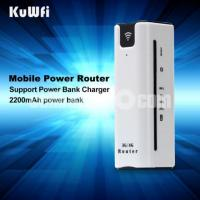 Power Bank 2200Mah with Wifi Router 3G,4G - SIM, Micro-SD Slot