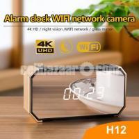 Spy Camera 4K Invisible Wifi IP Camera Alarm Clock Night Vision