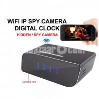 Spy Camera Digital Clock Hidden Wifi IP Camera Night Visioness Motion Dete