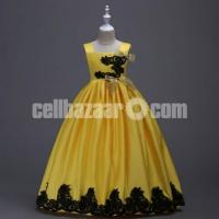 Party Dress- Yellow for 8 Years Old Girls – 322-DT93I 4681 1A00-AKD1589-T93I 4681 1A00