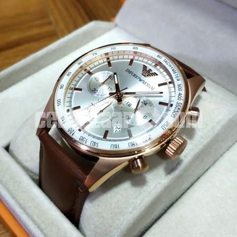 908c10853 ... WW0266 Original Emporio Armani Sportivo Chronograph Leather Belt Watch  AR5995 - 4/5 ...