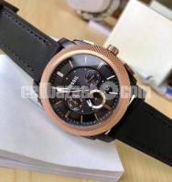 WW0269 Original Fossil Machine Chronograph Leather Belt Watch FS4715