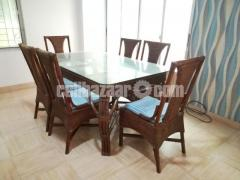 Dining Table Set (cane made)