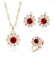ZOSHI Gold color crystal fashion jewelry set