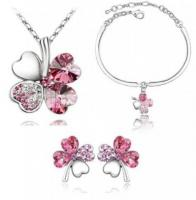 Quality Fashion Jewelry Set (Necklace + Earrings + Bracelet)