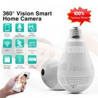 360° Degree Panoramic Wifi Camera Light Bulb