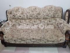 Wooden Sofa Set with Center table- কাঠের সোফা সেট (সেন্টার টেবিল সহ)