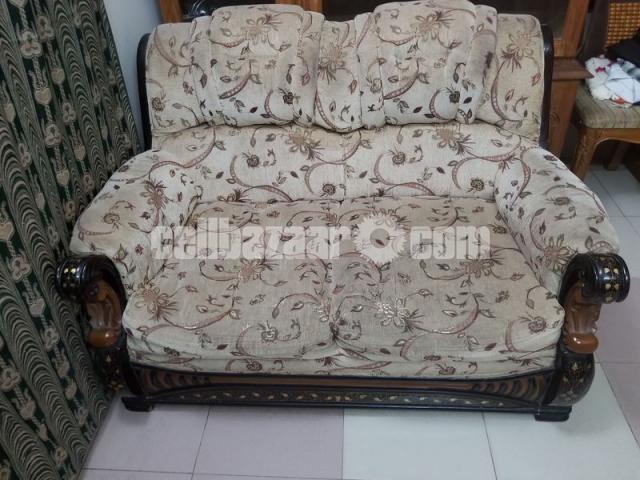 Wooden Sofa Set with Center table- কাঠের সোফা সেট (সেন্টার ...