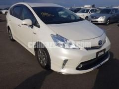 TOYOTA PRIUS ALPHA PEARL 2014