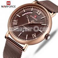 WW0331 Original Naviforce Day Date Mesh Chain Watch