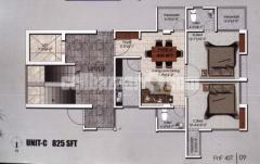 825sft Apartment sell at Boshundhara.