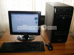 "Desktop 2GB RAM 180GB HDD Processor Core 2 Duo With 15.1"" monitor"