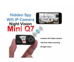 Spy Camera Night Vision Q7 Mini P2P Wifi IP Camera with Audio Recording
