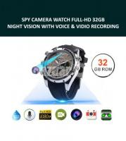 Spy Camera Watch Full-HD 32GB Night Vision with Voice & Video
