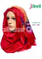 red and purple Orna puthi hijab.