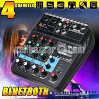 4 Channels USB Bluetooth Studio Audio Mixer Amplifier