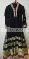 designers long black gown with salwar & dupatta
