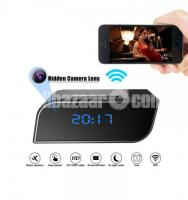 Spy Camera Digital Clock Invisible Wifi IP Came Night Vision