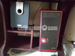 Running PC, including BebQ Monitor, 4:1 microlab speaker, BenQ keyboard