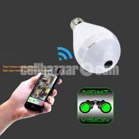Spy Camera Bulb 360° Panoramic 2MP Wifi IP Cam Night Vision