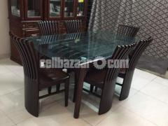 6 seater dining table - Image 2/4