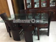 6 seater dining table - Image 4/4