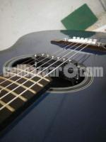 Yamaha Blue Acoustic Guitar