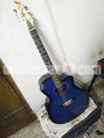 Yamaha Blue Acoustic Guitar