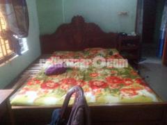 বার্মার অরিজিনাল সেগুন কাঠের খাট