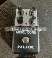 NUX Metal core distortion guitar pedal. stompbox