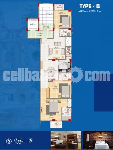 1350 sqft exclusive flat for sale at Mirpur 10, Dhaka. - 3/4