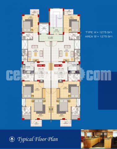 1350 sqft exclusive flat for sale at Mirpur 10, Dhaka. - 4/4