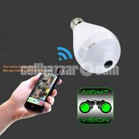 Spy Camera Bulb 360° Panoramic Wifi IP Camera Night Vision