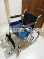 Wheelchair Steel Foldable With Safety Belts