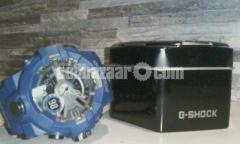 Casio G-Shock Classic Dual Display Blue Plastic Strap Watch GA-700-2AER