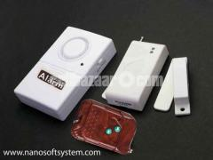 Door window magnetic switch anti thief alarm system with remote in Dhaka