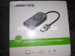 Ugreen Sound Card USB Audio Interface External 3.5mm
