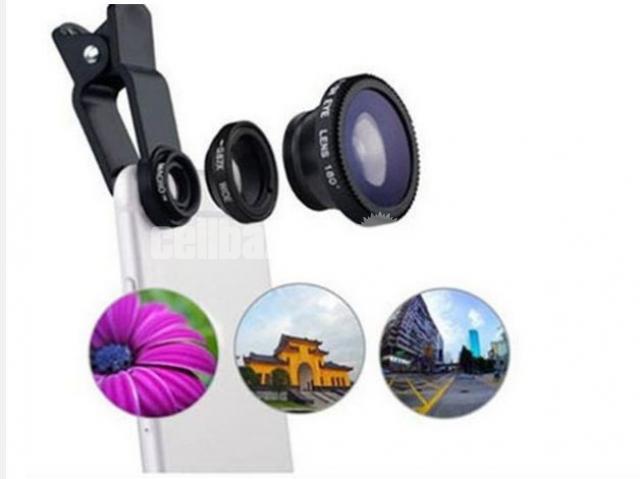 3-in-1 Wide Angle Macro Fisheye Lens All Mobile Camera Kits - 4/5