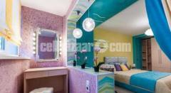 Decorative wall coating.