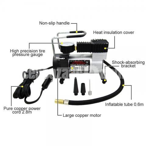 12V Portable Mini Air Compressor Electric Tire Infaltor Pump - 3/5
