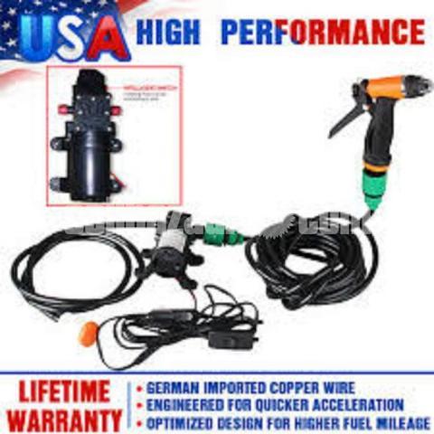 Mini Car/Bike High Pressure Washer Pump Set : - 2/5