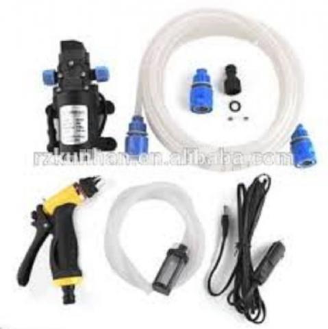 Mini Car/Bike High Pressure Washer Pump Set : - 3/5
