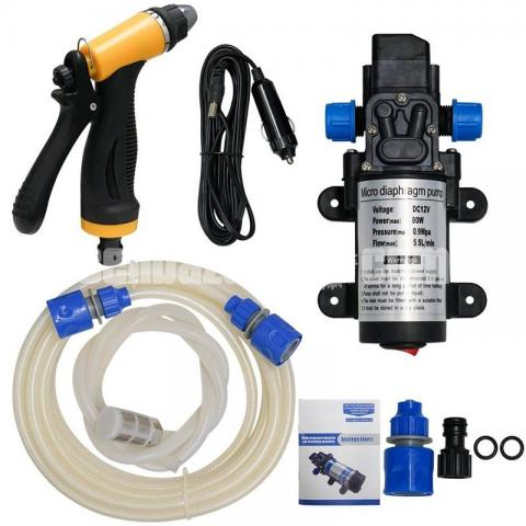 Mini Car/Bike High Pressure Washer Pump Set : - 4/5