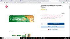 Berocca Orange Effervescent Tablets - Orange / 15