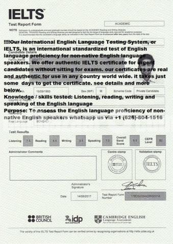 Buy IELTS certificate for immigration and study Abroad, visa application,Job offers - 1/2