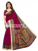 Beautiful Mayshury Silk Sharee – 04 – Maroon with Multi Design